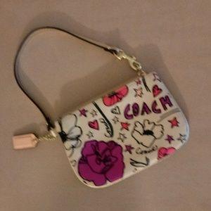 Coach Pink Poppy Wristlet